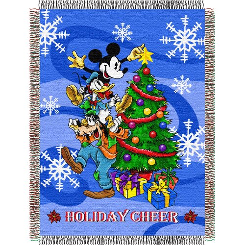 Northwest Co. Entertainment Mickey Mouse Spread Cheer Throw