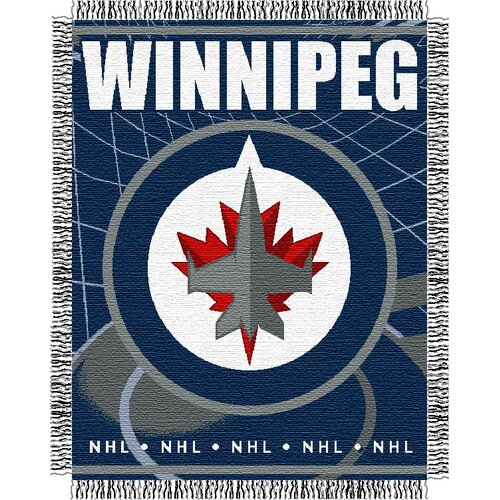 Northwest Co. NHL Winnipeg Jets Triple Acrylic Woven Jacquard Throw