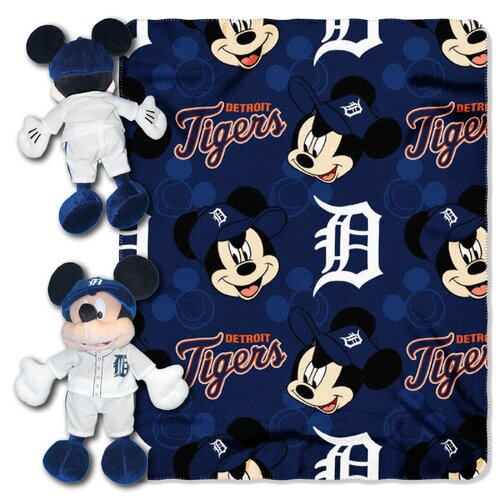 Northwest Co. MLB Mickey Mouse Fleece Throw