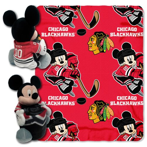Northwest Co. NHL Mickey Mouse Fleece Throw