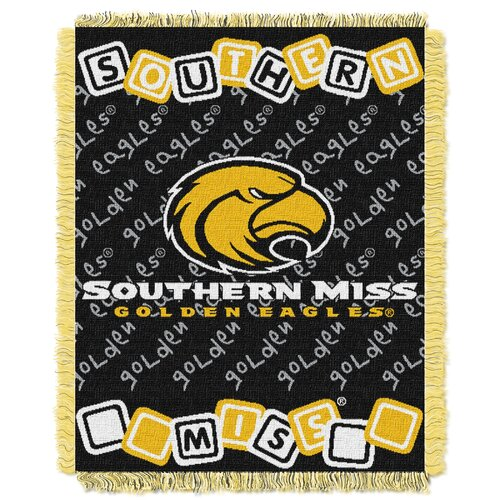 NCAA Southern Mississippi Triple Woven Jacquard Acrylic Throw