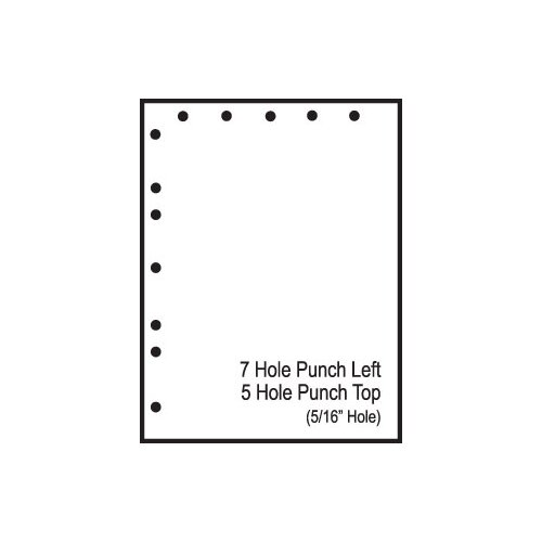 "TST Impreso 8.5"" x 11"" Pre-Perfed and Punched Copy Paper with 5 Hole Punch Top and 7 Hole Punch Left (2500 Sheets)"
