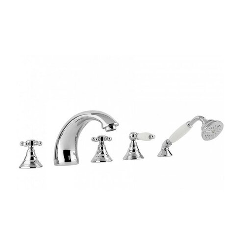 WS Bath Collections Belinda Five-Hole Triple Handle Volume Control Shower Panel