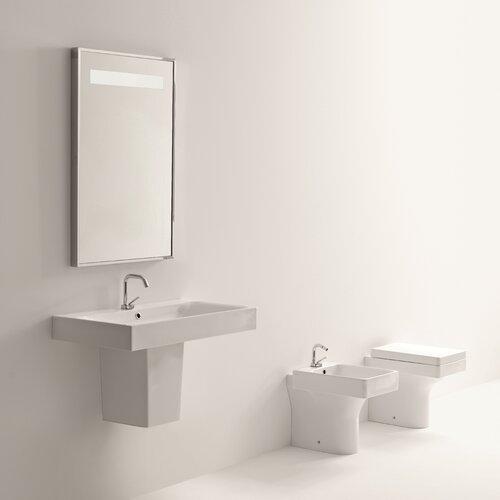 Cento Ceramic Bathroom Sink with Semi-Pedestal