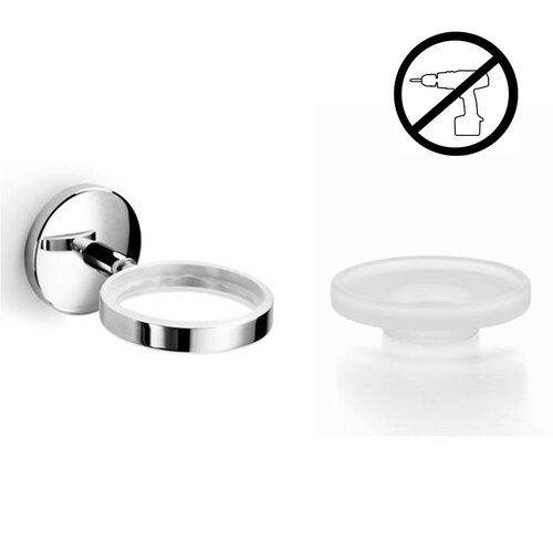 Spritz Self-Adhesive Soap Dish Holder with Soap Dish