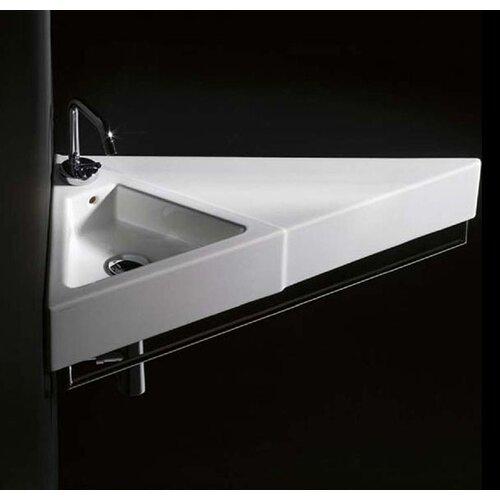 Sign Ceramic Wall Mounted Vessel Bathroom Sink