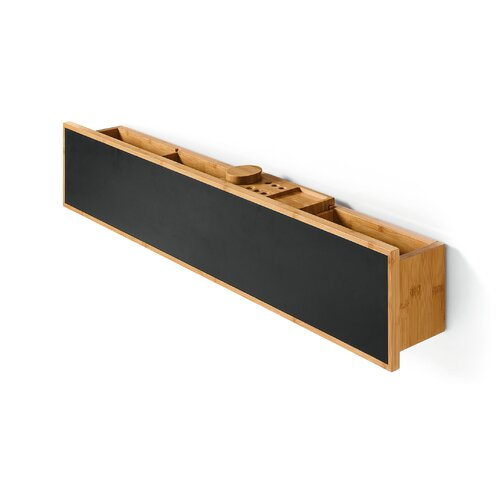 Luni Bamboo Shelf with Containers and Blackboard Magnetic Surface