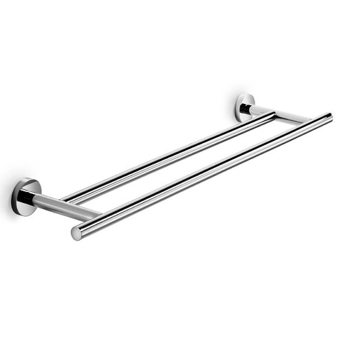 "WS Bath Collections Spritz 25.6"" Wall Mounted Double Towel Bar"