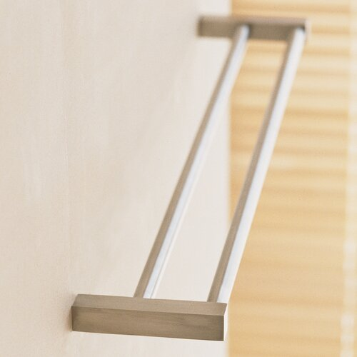 "WS Bath Collections Metric 19.7"" Wall Mounted Double Towel Bar"