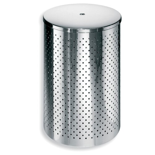 Complements waste basket with lid wayfair for Bathroom wastebasket with lid
