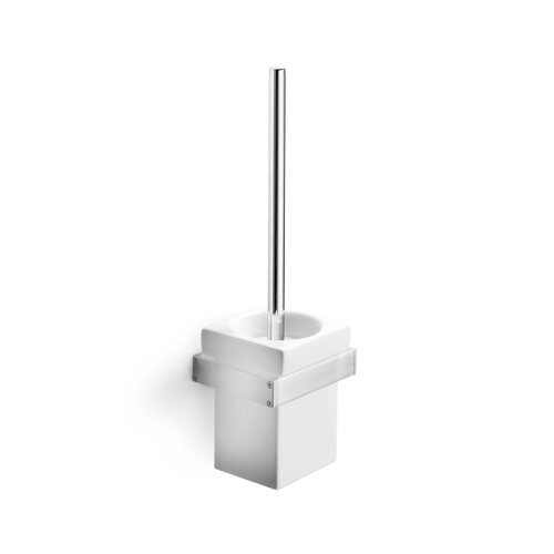 WS Bath Collections Skuara Toilet Brush Holder in White