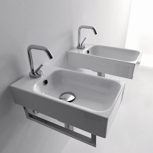 WS Bath Collections Kerasan Cento Wall Mounted / Vessel Bathroom Sink