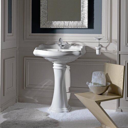WS Bath Collections Kerasan Retro Free Standing Bathroom Pedestal Sink