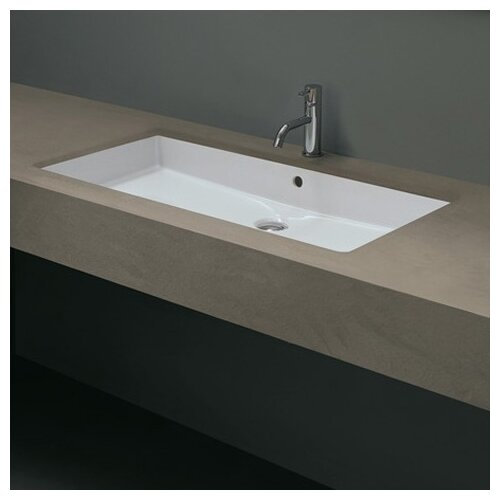 Trough Sink Undermount : ... Ceramica Valdama Cubo Undermount Bathroom Sink & Reviews Wayfair