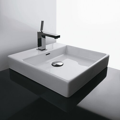 Ceramica Valdama Plain Vessel Bathroom Sink