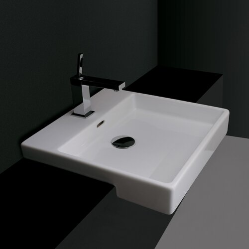 Ceramica Valdama Plain Wall Mount Bathroom Sink