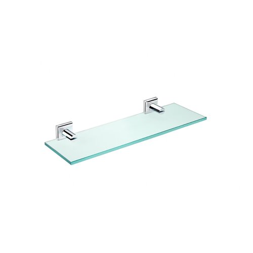 "WS Bath Collections Kubic Class 15.8"" Bathroom Shelf"