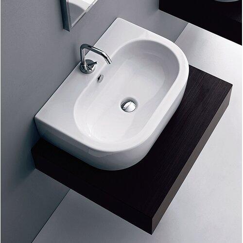 WS Bath Collections Kerasan Flo Wall Mounted / Vessel Bathroom Sink