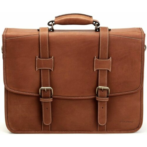 Adventure Litigator Leather Laptop Briefcase
