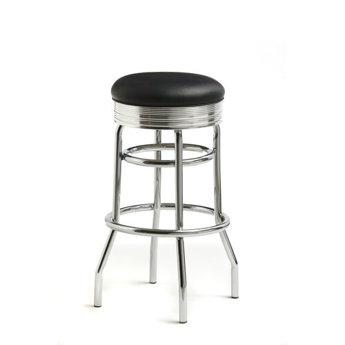 "Classic Retro Dinettes Retro 30"" Swivel Bar Stool with Cushion"