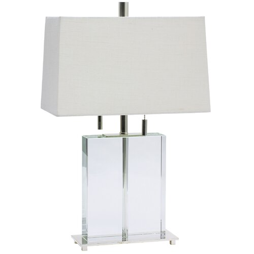 "House of Troy Marquis 21"" H Rectangular Crystal Table Lamp"