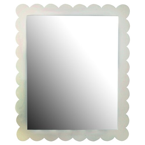 New Arrivals Scalloped Framed Mirror
