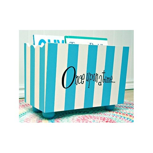 """New Arrivals """"Once Upon a Time"""" Stripe Hand Painted 10.5"""" Book Storage"""