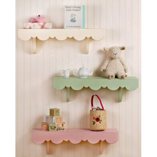 New Arrivals Scalloped Cottage Wall Shelf