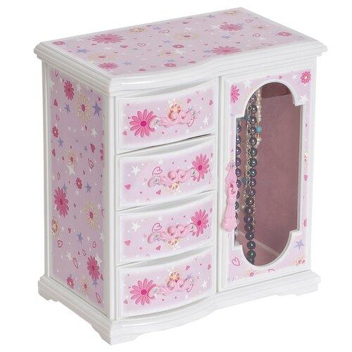 Hyacinth Girl's Glittery Upright Musical Ballerina Jewelry Box