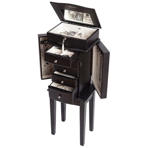 Mele & Co. Chandler Jewelry Armoire with Mirror