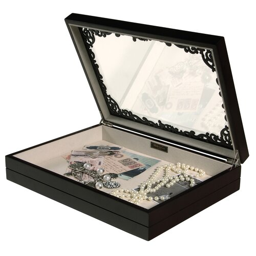 Mele & Co. Sophia Filigree Shadow Jewelry Box