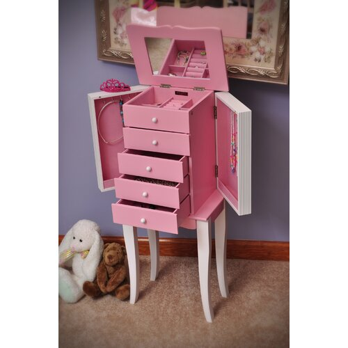 Louisa Girl's Jewelry Armoire with Mirror