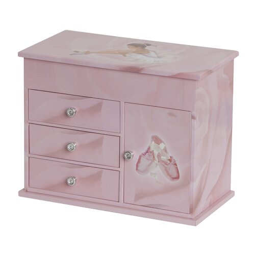 Corey Girl's Musical Ballerina Jewelry Box