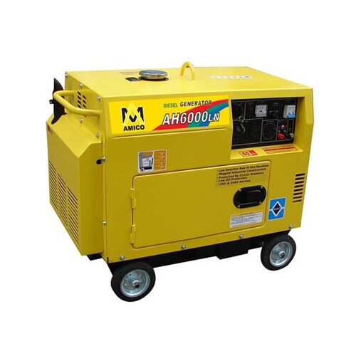 6,500 Watt Diesel Generator with Wheel Kit and Electric Start