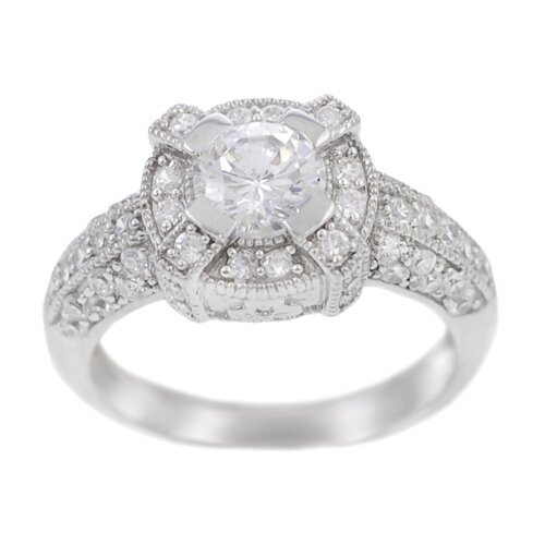 Sterling Silver CZ Accented Ring