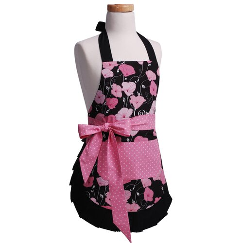 Girls' Original Apron in Midnight Bloom