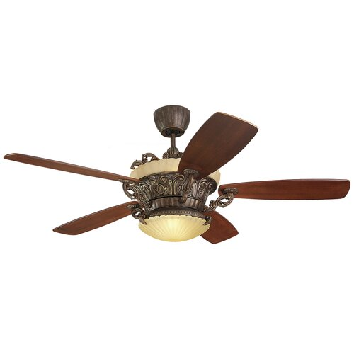 "Monte Carlo Fan Company 56"" Strasburg 5 Blade Ceiling Fan with Remote"