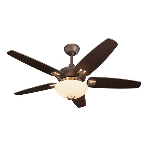 "Monte Carlo Fan Company 44"" Versio II 5 Blade Ceiling Fan with Remote"
