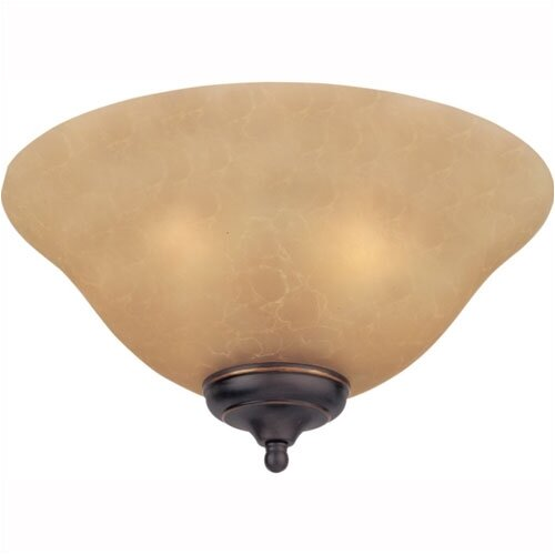 Monte Carlo Fan Company Teastain Mission Three Light Ceiling Fan Light Kit or Semi Flush Mount