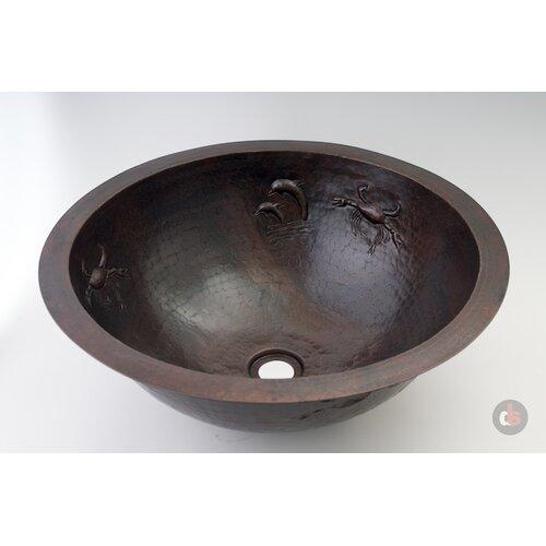 Ambiente Copper Handmade Round Sea Bathroom Sink