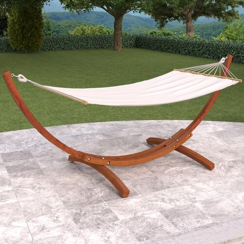 Backyard Hammock Design DCOR Design Wood Canyon Patio Hammock With Stand Reviews Wayfair