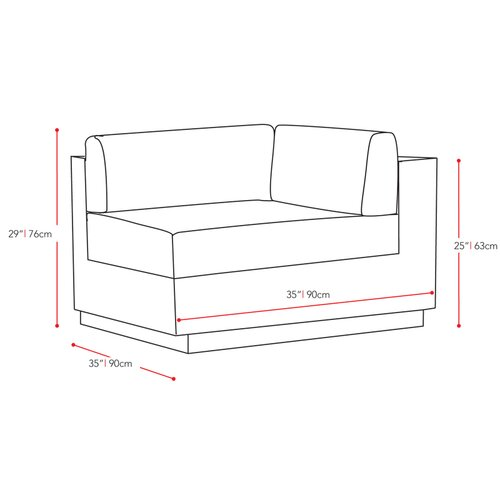 dCOR design Park Terrace 5 Piece Seating Group with Cushions
