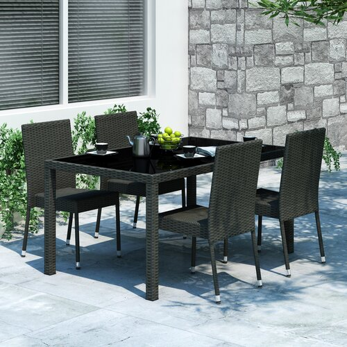 dCOR design Park Terrace 5 Piece Dining Set