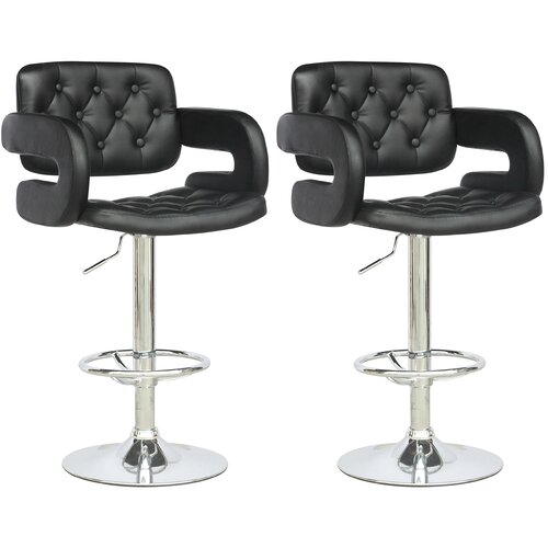dCOR design Adjustable Swivel Bar Stool (Set of 2)