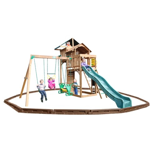 Playtime Swing Sets Auburn Hills Swing Set with Play Zone Components