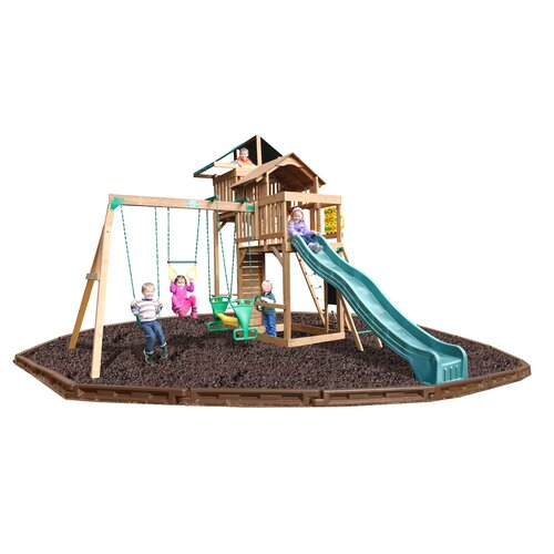Playtime Swing Sets Auburn Hills Swing Set with Rubber Mulch