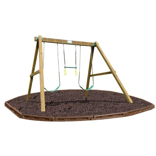Playtime Swing Sets Classic Swing Beam Set with Rubber Mulch