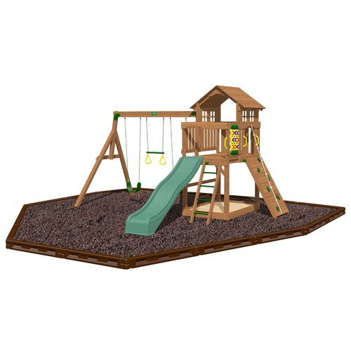 Eagle Point Swing Set with Rubber Mulch