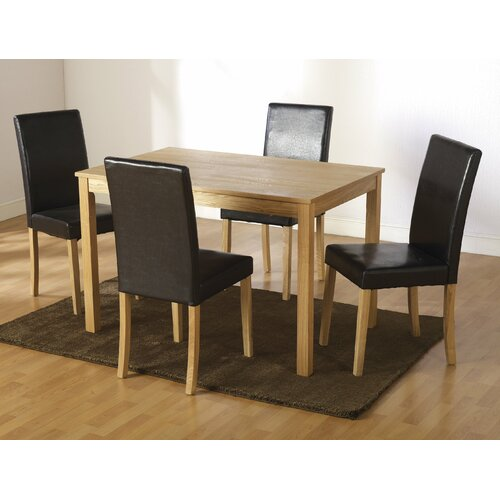 Home essence albany 5 piece dining set reviews wayfair uk for Furniture zone albany