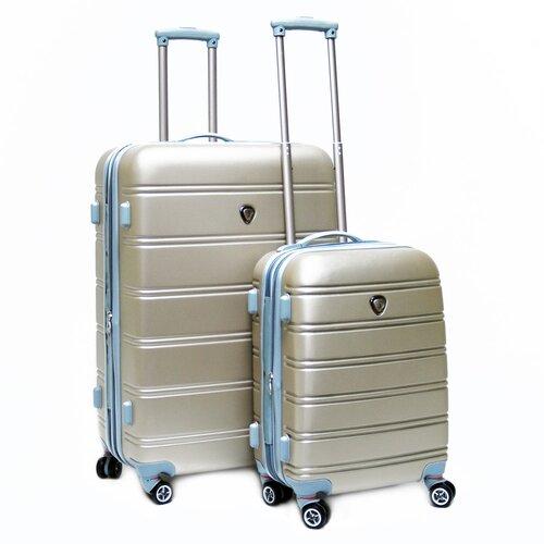 CalPak Andover ABS Hardcase 2 Piece 4 Wheels Luggage Set